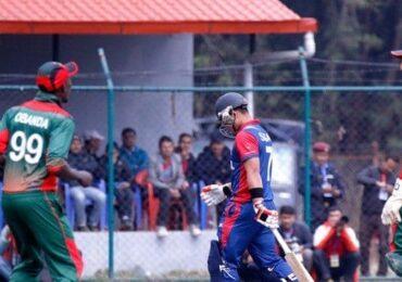 विश्व क्रिकेट लिग: १५ ओभर सकियो , नेपाली ब्याट्सम्यानमाथि केन्याका बलर हावी