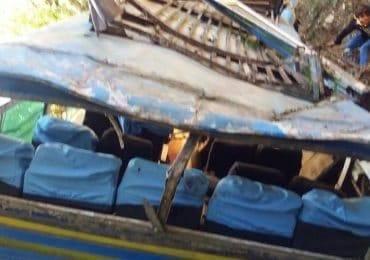 पाल्पामा बस दुर्घटना ,१२ जनाको मृत्यु