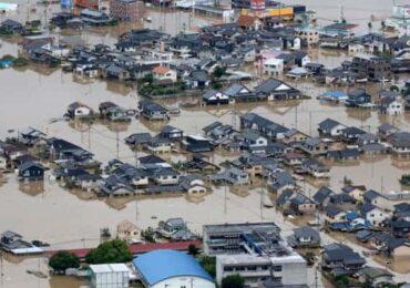 जापानमा भारी वर्षा, एक सयभन्दा बढिको मृत्यु  (तस्बिर)