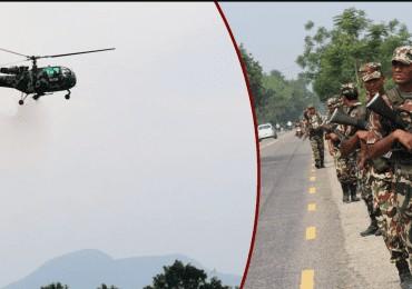 मोदीको सुरक्षाकर्मीलाई नेपाली सेनाले परिचालन गर्ने,आकाशमा सेनाको हवाइ गस्ती