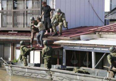 आँधीपछि जापानमा सुरक्षाकर्मी तथा उद्धारकर्मी परिचालित